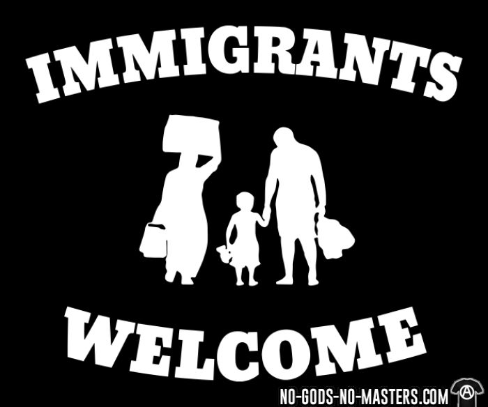 Immigrants welcome - Anti-fascist Local T-shirt