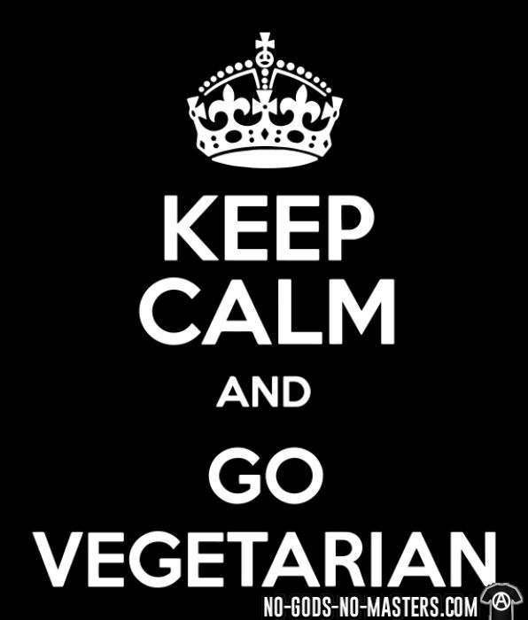 Keep calm and go vegetarian - Animal Liberation T-shirt