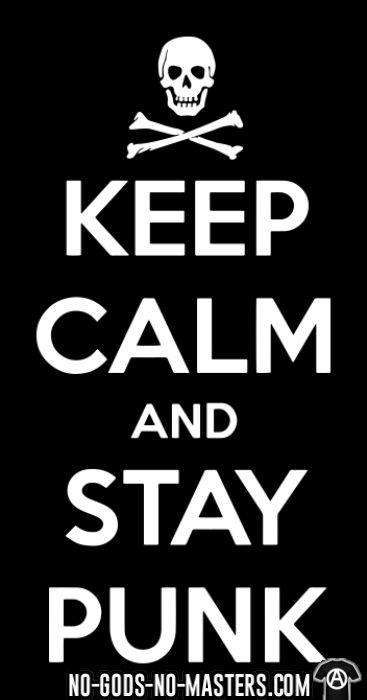 Keep calm and stay punk - Punk T-shirt