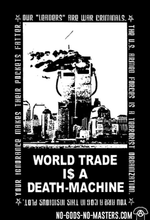 Leftover Crack - World trade is a death-machine - Band Merch Local T-shirt