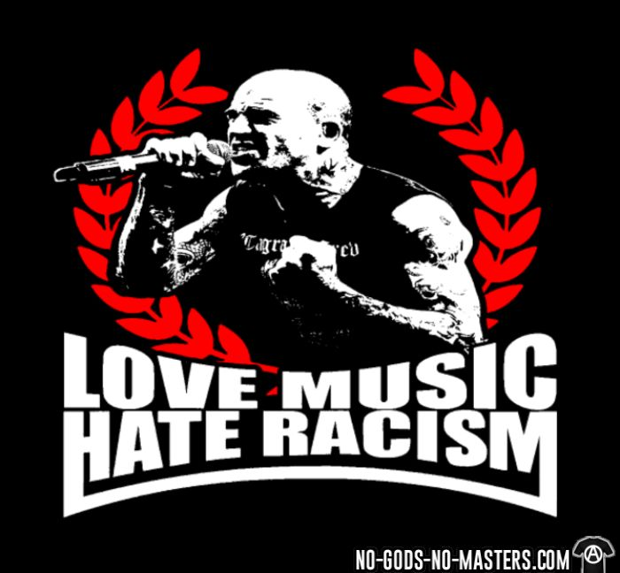 Love music hate racism - Anti-fascist T-shirt