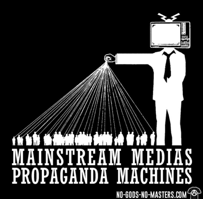 Mainstream medias propaganda machines - Activist Women T-shirt