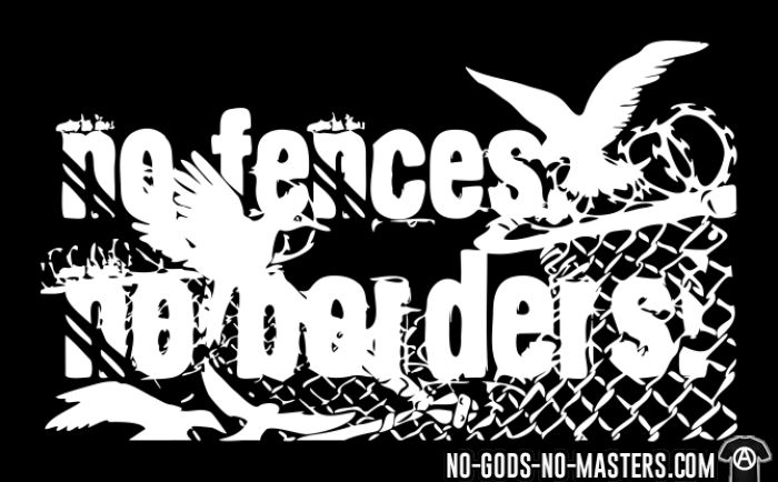 No fences no borders! - Activist Zip hoodie