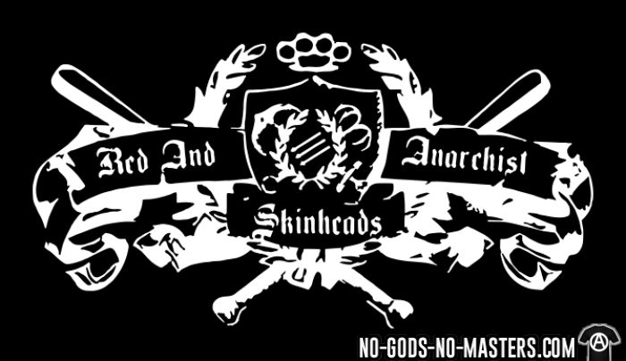 Red and anarchist skinheads - Anti-fascist Organic T-shirt