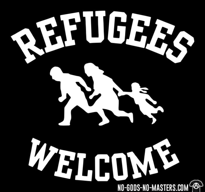 Refugees welcome - Anti-fascist Local T-shirt