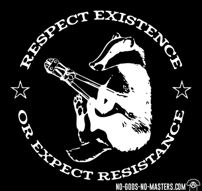 Respect existence or expect resistance - Animal Liberation T-shirt