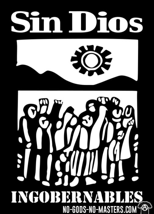 Sin Dios - ingobernables - Band Merch T-shirt