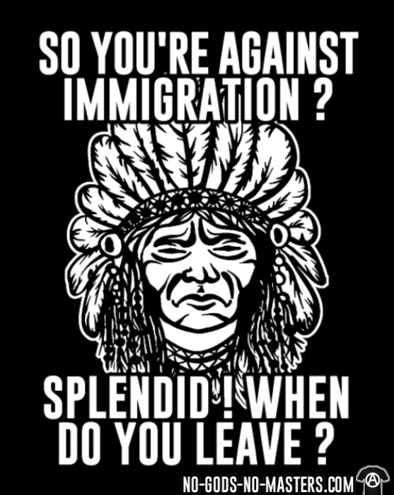 So you're against immigration? Splendid! When do you leave? - Funny T-shirt