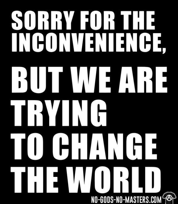 Sorry for the inconvenience, but we are trying to change the world - Funny T-shirt