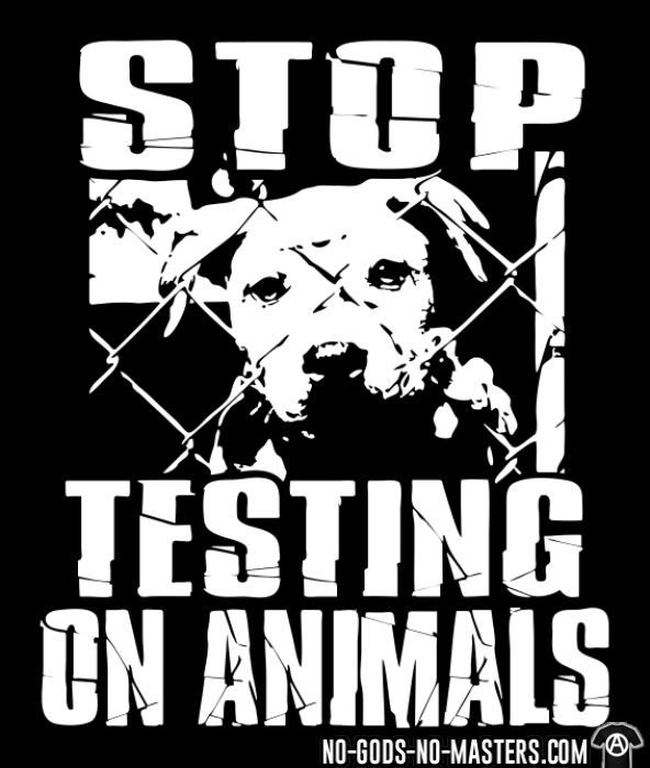 Stop testing on animals - Animal Liberation T-shirt