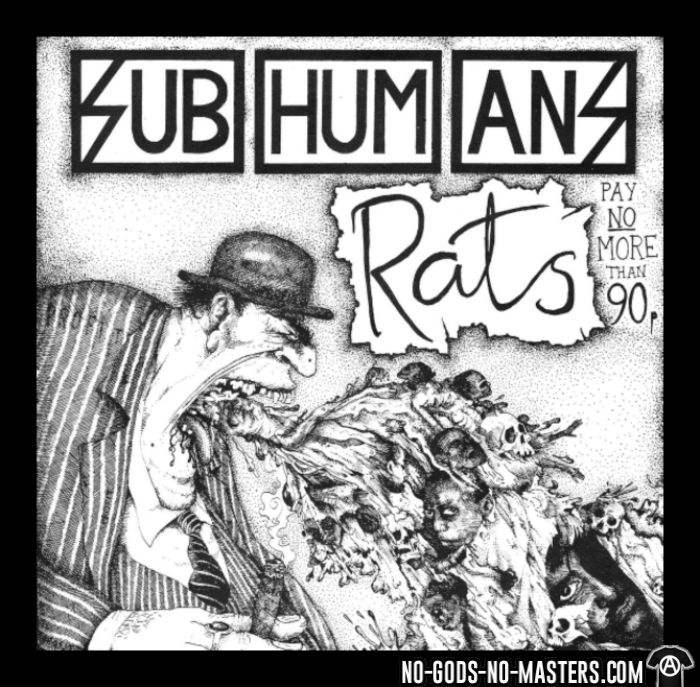 Subhumans - Rats - Band Merch Local T-shirt