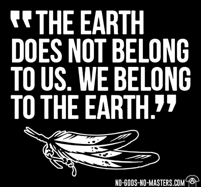 The earth does not belong to us. We belong to the earth. - Eco-friendly T-shirt