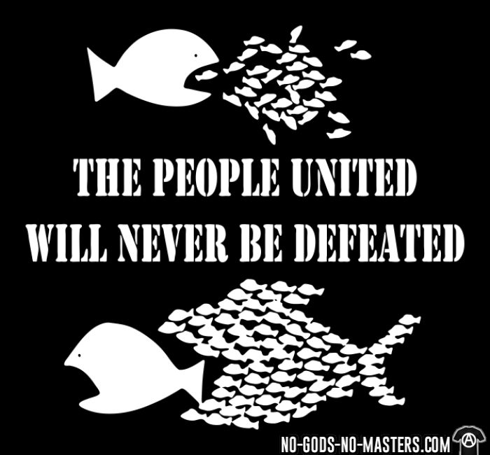 The people united will never be defeated - Activist Kids t-shirt