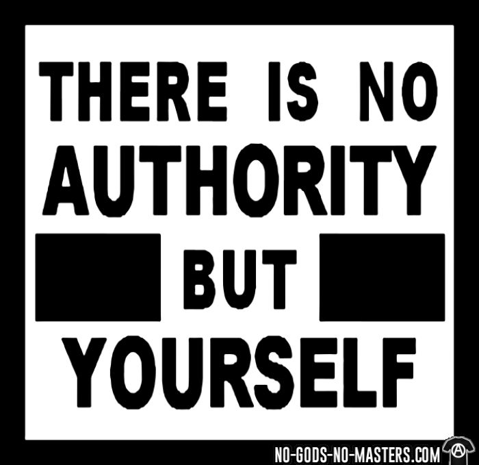 There is no authority but yourself (CRASS) - Activist Back Print T-shirt