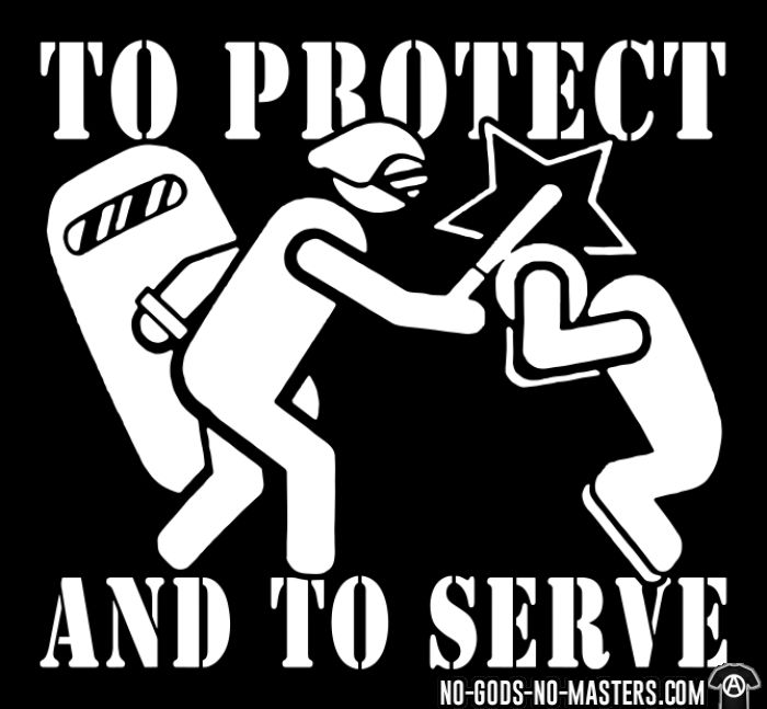 To protect and to serve - ACAB T-shirt