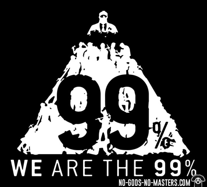 We are the 99% - Anonymous Hooded sweatshirt