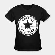 Women T-shirt Atheist all star - free thinker