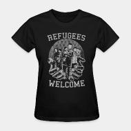 Women T-shirt Refugees Welcome