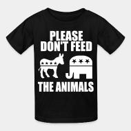 Kid's t-shirt Please don't feed the animals (democrats & republicans)
