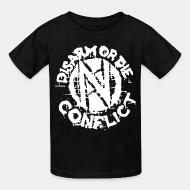 Kid tshirt Conflict - Disarm or die