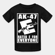 Kid's t-shirt AK-47 - Rated E for Everyone