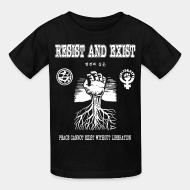 Kid tshirt Resist And Exist - Peace cannot exist without liberation