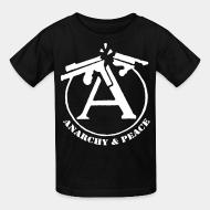 Kid's t-shirt Anarchy & peace