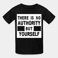 Kid tshirt There is no authority but yourself (CRASS)