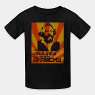 Kid's t-shirt The revolution is the way to the anarchy (Bakunin)