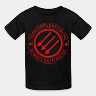 Kid tshirt Sometimes antisocial always antifascist