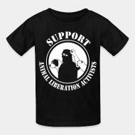 Kid's t-shirt Support animal liberation activists
