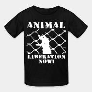 Kid's t-shirt Animal liberation now!