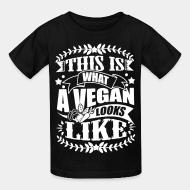Kid tshirt This what a vegan looks like