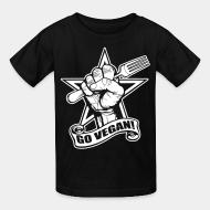 Kid's t-shirt Go vegan