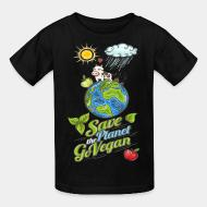 Kid's t-shirt Save the planet go vegan