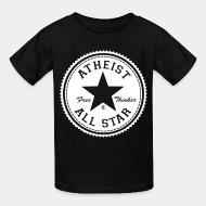 Kid tshirt Atheist all star - free thinker