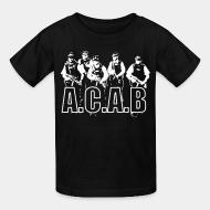 Kid's t-shirt A.C.A.B. All Cops Are Bastards