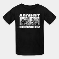 Kid tshirt Against terrorism & militarism