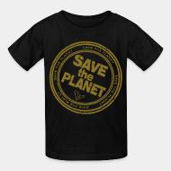Kid's t-shirt Save the planet