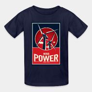 Kid's t-shirt Wind power - renewable energy