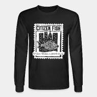 Long-sleeves crewneck Citizen Fish - Wider than a postcard