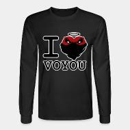 Long-sleeves crewneck I love voyou