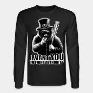 Long-sleeves crewneck I want you to fight authority