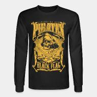 Long-sleeves crewneck Caribbean sea pirates - rise the black flag