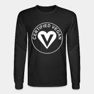 Long-sleeves crewneck Certified vegan