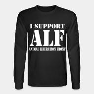 Long-sleeves crewneck I support ALF - Animal Liberation Front