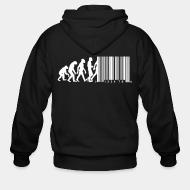 Zip hooded sweatshirt Bar code evolution