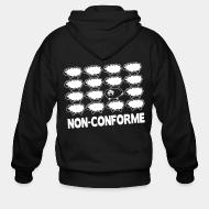 Zip hooded sweatshirt Non-conforme
