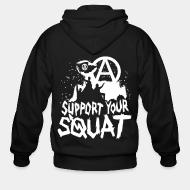 Zip hoodie Support your squat