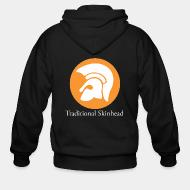 Zip hooded sweatshirt Traditional skinhead